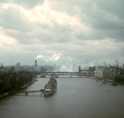 Towards Bankside from Tower Bridge, c1973. © Bill Hines Estate