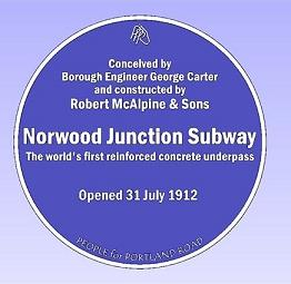 Norwood Junction Station plaque