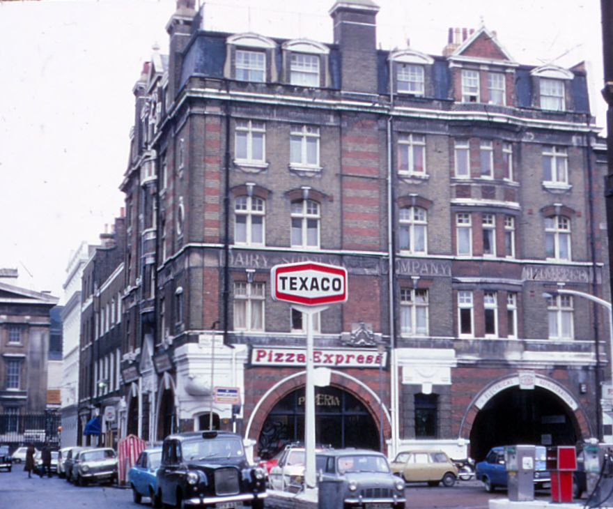 Dairy Supply Co, Little Russell Street side. © David Thomas 1978
