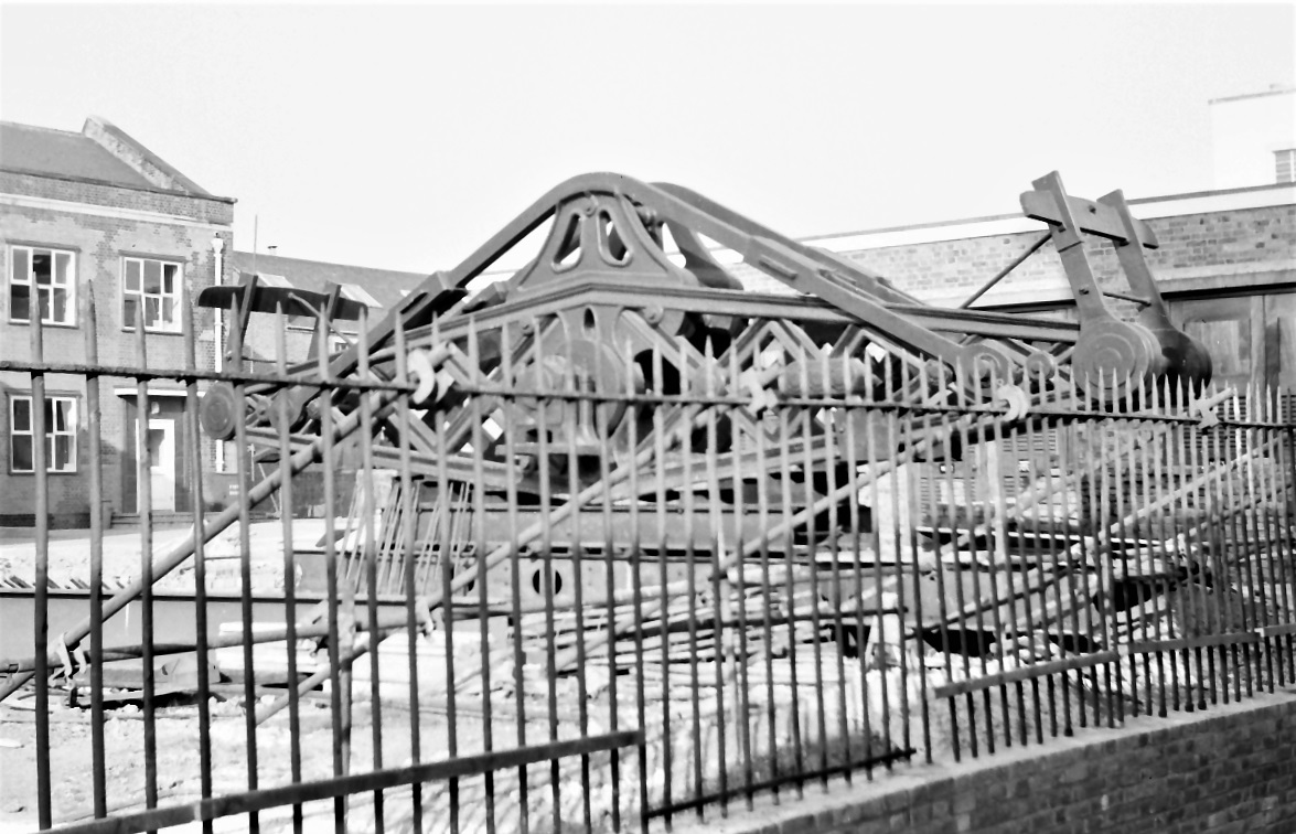 Hammersmith Pumping Station, removed engine beam, 1969