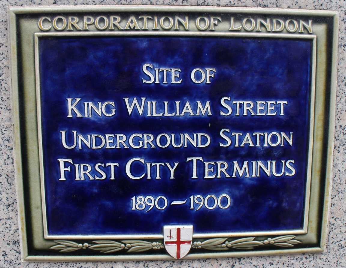 King William Street plaque. © Robert Mason 2018
