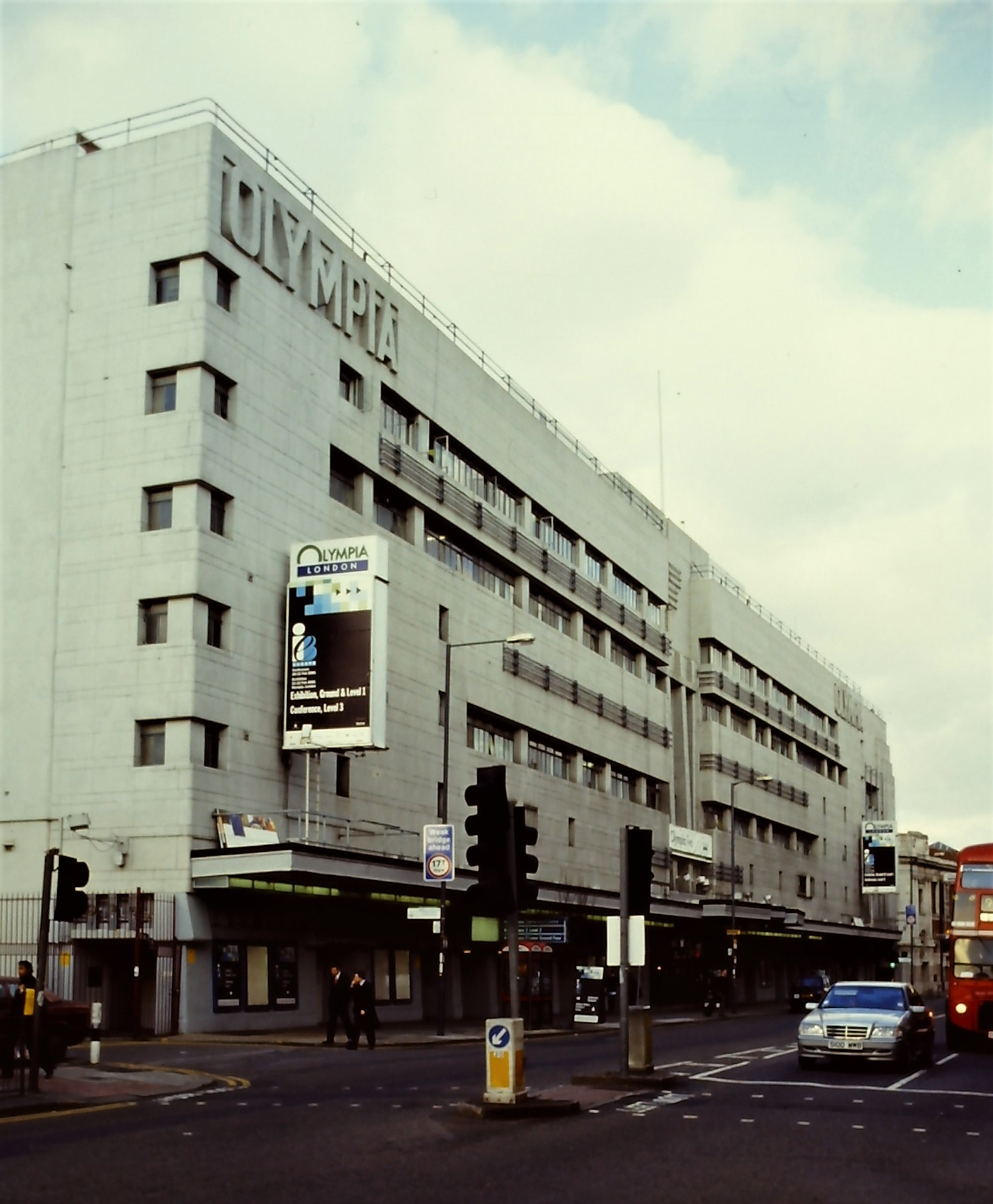 Olympia Central Hall façade on Hammersmith Road, 2000