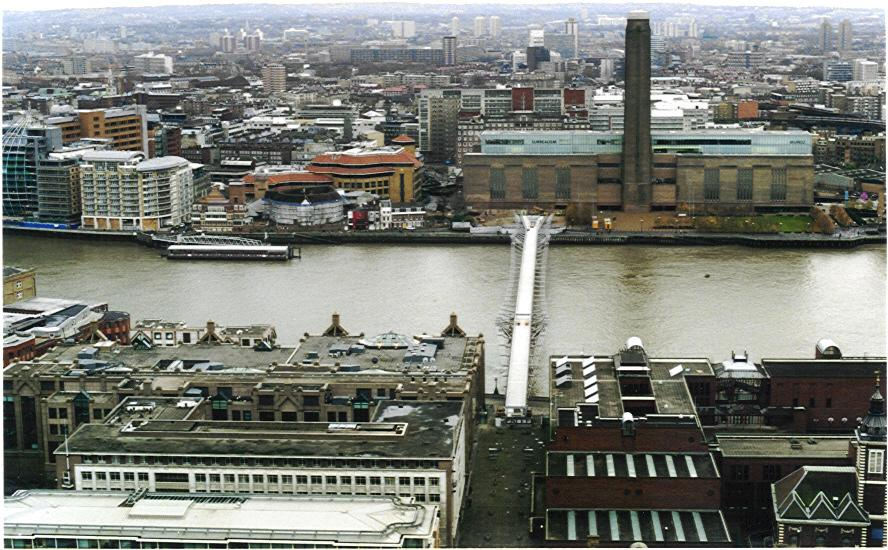 Bankside and Southwark from the dome of St Paul's cathedral