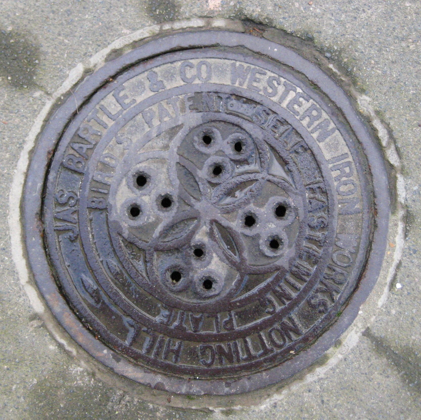 Jas. Bartle coal-hole cover, Pelham Crescent � Robert Mason 2013