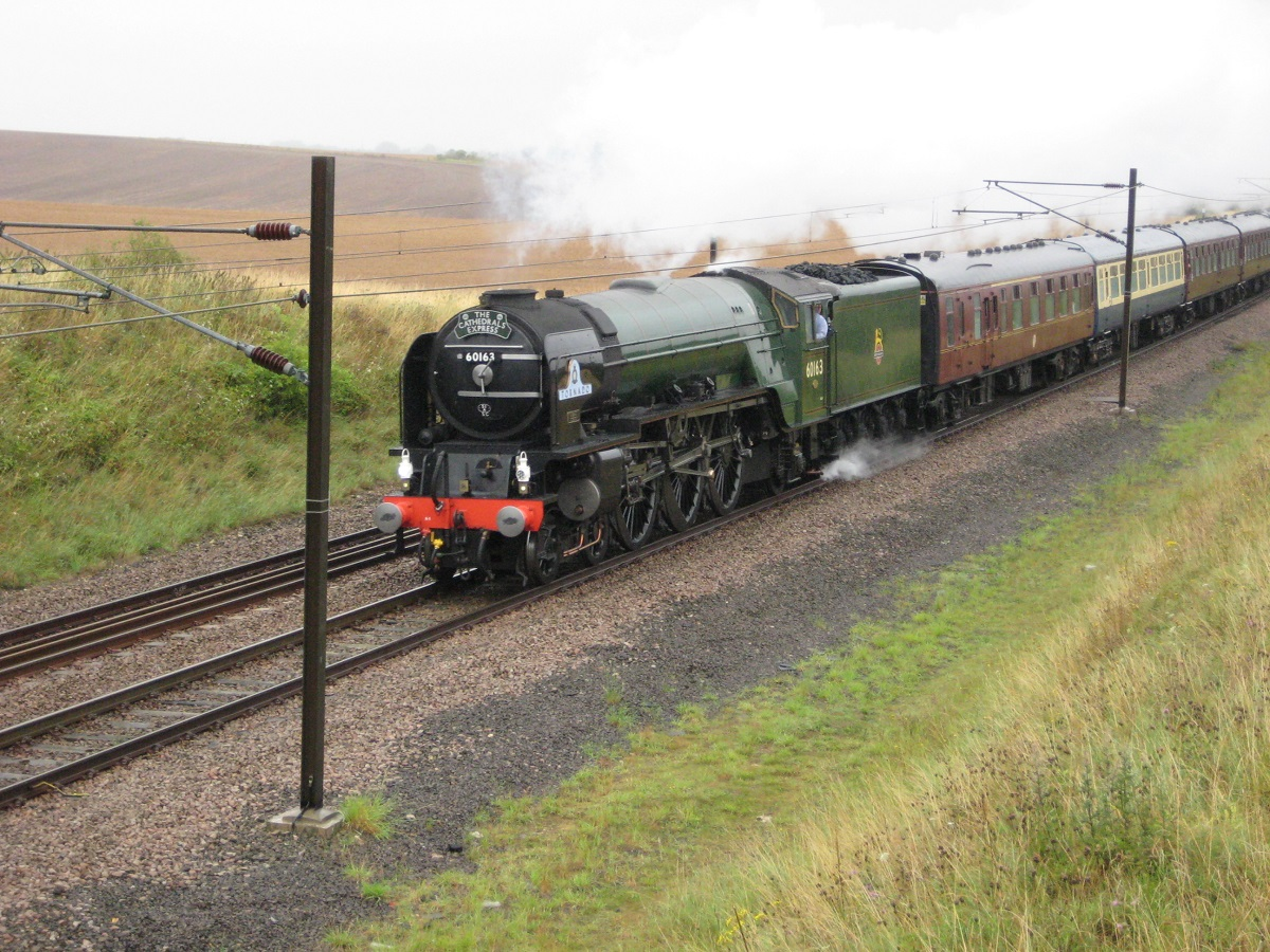 60163 Tornado, pictured from New Road Bridge (No 1525) near Audley End, 4.8.11. � Robert Mason